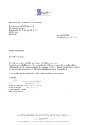 Partnership-Letter_Glenair_PTK-Ukraine